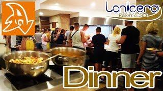 Lonicera Resort and Spa 5*. Обзор отеля. Ужин. The main restaurant. Food. Dinner