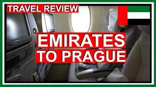Emirates Economy Class - Airbus A380 Flight to Prague (Review in 4k) 2019