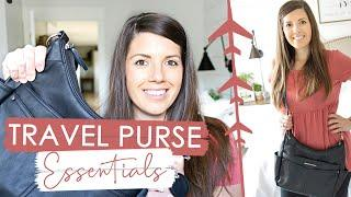 WHAT'S IN MY PURSE DURING TRAVEL   Best Purse for Travel + Travel Essentials